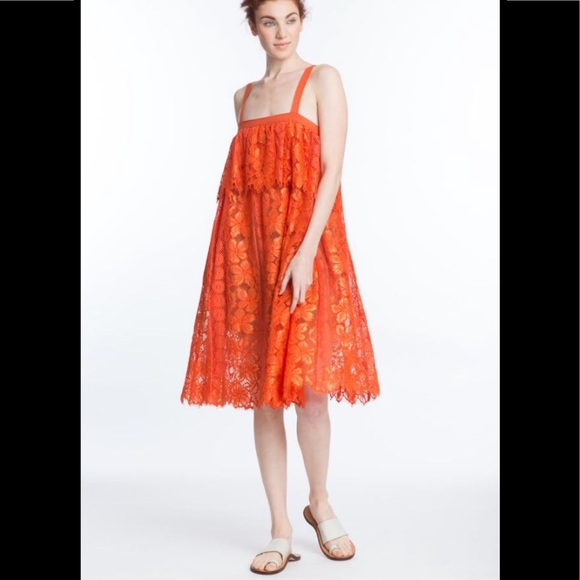 Tracy Reese Dresses & Skirts - NWT Tracy Reese Lace Cami African Orange Dress